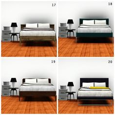 The Sims 3 CC Hunt, whitedotsims:   MY FAVOURITE DOUBLE BEDS  1....