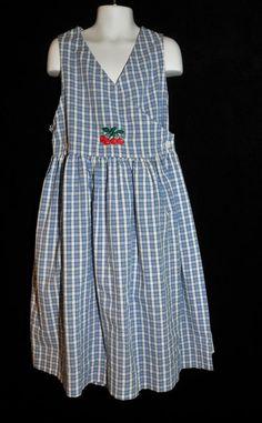 Hartstrings Girls Size 8 Dress Sundress Wrap Style Back to School Seersucker #Hartsrings #DressyEveryday