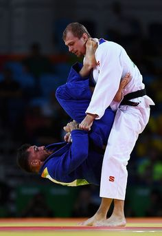Denis Iartcev of Russia competes against Pierre Duprat of France in the Men's 73 kg Judo elimination round on Day 3 of the Rio 2016…