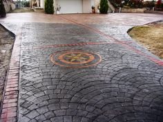 Having this done on back patio next week!   stamped concrete