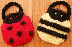 Ladybug Crochet Pattern Girl's Purse LADYBUG by toocutecrochet, $3.99