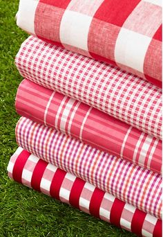 Schumacher, Key West Check in Cherry, Tartan, Red And Pink, Red And White, Plaid Fabric, Shirting Fabric, Red Gingham, Gingham Check, What's My Favorite Color, Painting The Roses Red