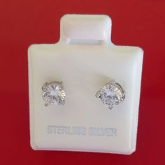 1.00ct Round cut Brilliant cut stud Earrings 925 Solid Sterling Silver Snap back