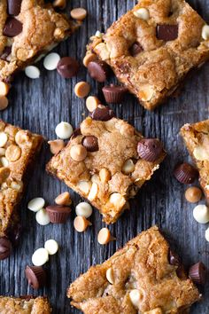 Loaded Cookie Bars via Deliciously Yum! please follow me @ http://www.pinterest.com/jeniferkane01/