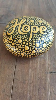 Hope hand painted rocks painted stone rock art mandala