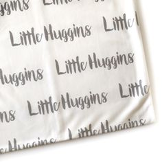 A unique baby shower gift! Add a name, nick name, family name or anything you like! These soft stretchy blankets are so good!