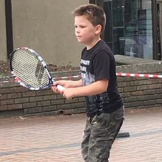 At the St Albans Street Festival on Sunday one of the activities for kids was to hit the tennis  ball around with one of the guys from @batchwoodsportscentre. Big took instructions really well and I think there is potential there! Encourage your children to try something different - you never know where it will lead! #streetfest2017 #trytennis #trynewsports #trynewstuff #batchwoodsportscentre #tweet