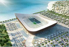 2022'de Katar'da yapılacak Dünya Kupası'ndaki stadyum tasarımları... www.sporradyosu.com