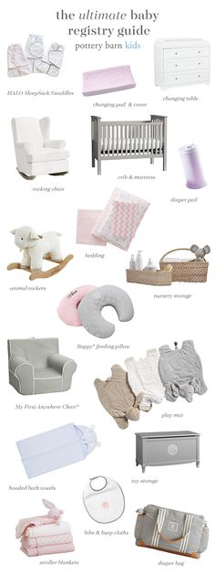 Who says the nursery can't match your own design style? Register for the right crib, furniture, bedding, and accessories and you can create a space for baby that adults will love too.