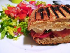 Grillet Sandwich med Serrano og Mozzarella