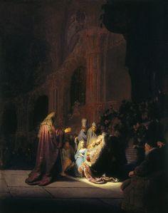 Rembrandt van Rijn, Canto di lode di Simeone, 1631  See more at: http://www.tripartadvisor.it/il-mito-della-golden-age-vermeer-rembrandt/
