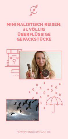 Minimalistisch reisen: 11 überflüssige Gepäckstücke via @pinkcompass