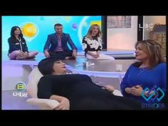 """Dania demonstrating """"Guided Visualization"""" to beat stress on LBC"""