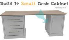 DIY Office Furniture - small desk cabinet from www.sawdustgirl.com