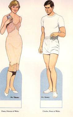 Princess Diana and Prince Charles Paper Dolls Booklet - 1985