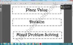 Math Bin Labels product from Teach-it-2Me on TeachersNotebook.com