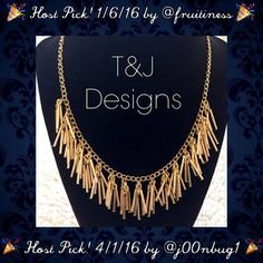 """BOGO 🎉 HP 🎉 T&J Designs Gold Fringe Necklace 🛍 BOGO 1/2 OFF...see Sale Post in my closet for more details🛍 🎉 Host Pick! 1/6/17 by @fruitiness & 4/1/16 by @j00nbug1 🎉 Beautiful gold fringe necklace by T&J Designs...this necklace is seriously fabulous and extremely versatile!! Gold plated base metals; lead and nickel free! 17"""" long plus a 2.5"""" extension chain; """"fringe"""" pieces are approximately 1"""" long...retail: $42 ❌PLEASE DON'T PURCHASE THIS POST...COMMENT BELOW AND I'LL CREATE A…"""