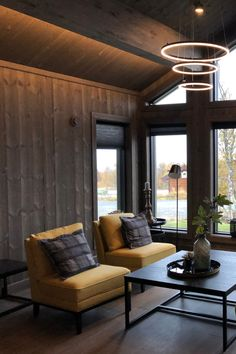 Cabin Interiors, Conference Room, House Design, Doors, Living Room, Table, Furniture, Home Decor, Beige