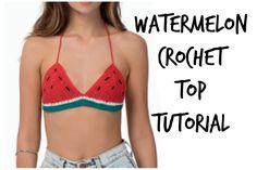 Crochet Watermelon Bikini Top