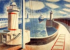 Newhaven Harbour Eric Ravilious