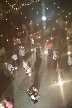 Powel Crosley Estate | Overhead View of wedding reception | Sarasota, FL wedding | Florida wedding DJ | Dancing under the stars.