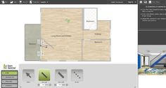 RoomSketcher software walls feature Kitchen Design Software, Interior Design Software, Home Interior Design, Plan Design, Tool Design, Bathroom Design Tool, Garage Design, Shop Window Displays, Shop Plans