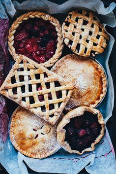 fruit tarts.