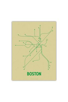 $25 #Boston #Transit Line Posters Boston 12 - On JackThreads: http://www.jackthreads.com/invite/tobytoby7