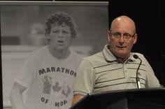 Steve Ralph, President of adidas Canada, marks the anniversary of Terry Fox's Marathon of Hope. Adidas Canada, 30th Anniversary, Former President, Public Relations, Marathon, Chef Jackets, Presidents, Fox, Mens Tops
