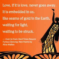 From the book Hard Times Require Furious Dancing by Alice Walker.
