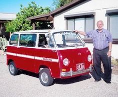 Wow! How many times do you find your dad on Pinterest??  Subaru 360 Van + Ed Parsil. <3