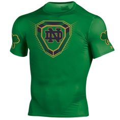400d87b5cb7 College Notre Dame Fighting Irish Under Armour 2015 Shamrock Series  Baselayer T-Shirt - Kelly