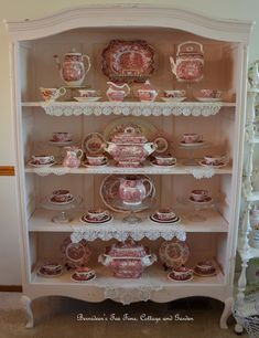 Bernideen's Tea Time, Cottage and Garden: GOING AHEAD WITH ENGLISH RED TRANSFERWARE
