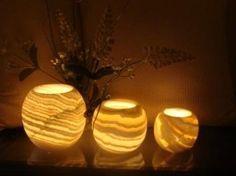 One Alabaster Globe Handmade Tealight / Votive Candle Holder for $10.00  http://yupurl.com/jvi5kp
