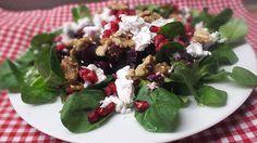 Lauwarmes Rote Bete - Carpaccio mit Feldsalat und Ziegenfrischkäse