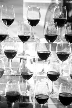 Black and White Wedding Detail Wine Glasses