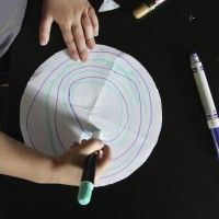 Drawing circles... Activity for 3-4 year olds. good fine motor & pre-writing activity.