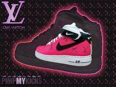 Pimp My Kicks Custom Pink Louis Vuitton Air Force Ones