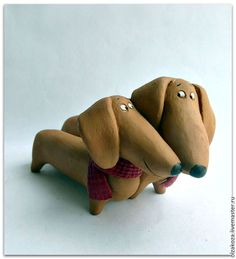 Polymer Clay Animals, Ceramic Animals, Polymer Clay Crafts, Ceramic Figures, Clay Figures, Dog Sculpture, Animal Sculptures, Clay Cats, Paper Mache Crafts