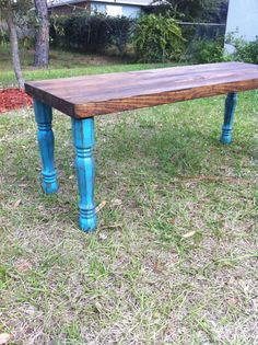 Reclaimed Barnwood Wood Coffeebench Table with by triple7recycled, $185.00
