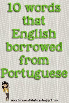 """10 words that English borrowed from Portuguese - did you know that """"zebra"""" comes from Portuguese? Read the post to learn more!"""