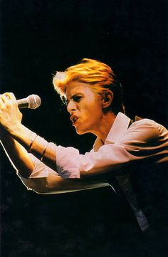 """David Bowie """" the thin white duke"""" 1976. I saw this tour, and can't believe how good he was. I was high for a week!"""