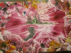 Inner World,size A6,using beeswax and travel iron and stylus,by peter chattaway.2013