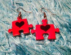 Easy way to reuse an old puzzle. make into earrings! from cut out and keep
