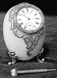 Clock egg Faberge