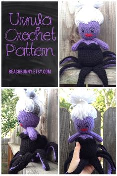 Ursula PDF Crochet Pattern from Disney's The Little Mermaid by beachbunny, $3.75