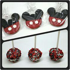 Galletas y Cakepops • Mickey Mouse #pritycakes #PrityCakes #galletas #cookies #galletasmickey #cakepops #cakepopsmickey #brigadeiros #mickey #disney #disneymickey #pastrypanama #panamacookies #panama #pty507