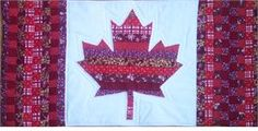 Canadian Flag Wall Hanging via Craftsy Quilt Block Patterns, Pattern Blocks, Sewing Patterns, Flag Quilt, Quilt Blocks, Quilting Tutorials, Quilting Designs, Quilting Ideas, Canadian Quilts