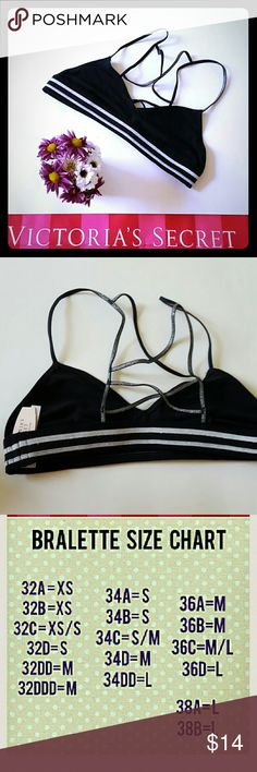 New! Victoria's Secret bralette New with tags! Not padded, sparkly detail:)  Bundle and SAVE! Victoria's Secret Intimates & Sleepwear Bras