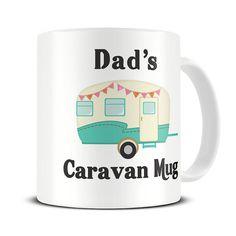 Personalised Caravan Mug - caravan gifts - dad - mum - mom - grandad - mothers day gift mug - MG433